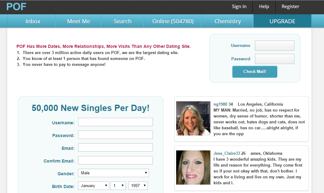 other dating sites like pof Dating sites like pof - we are one of the most popular online dating sites for men and women sign up and start dating, meeting and chatting with other people a few last words of advice: forget the negativity in your profile and do not talk about ex-relationships.